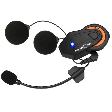 FreedConn T-MAX Bluetooth 4.1 Helmet Intercom System 1000M Wireless Motorcycle Headset IPX65 Dust-proof & Waterproof 6 Riders Full Duplex Interphone w/ FM (Best Helmet Intercom System)