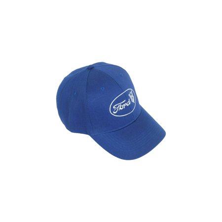 MACs Auto Parts  16-52869 Baseball Cap - Blue - Ford Script and V8