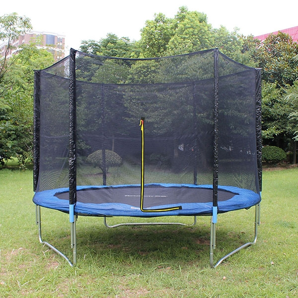 8ft Kid Trampoline With Enclosure,Outdoors Jumper Round Game Trampoline