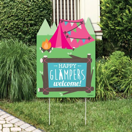 Let's Go Glamping - Party Decorations - Camp Glamp Party or Birthday Party Welcome Yard Sign](Glamping Party)