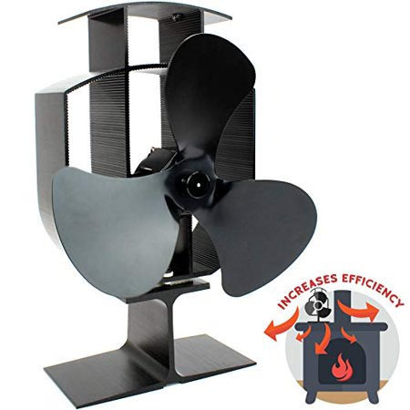 - Heat Powered 3 Blade Stove Fan | Silent Operation | Fireplace Wood & Log Burner | Effective Heat Circulation | Eco Friendly