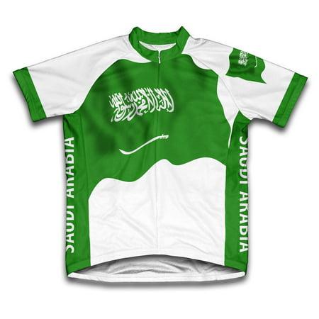 Saudi Arabia Flag Short Sleeve Cycling Jersey  for Women - Size XS](Beautiful Arabian Womens)