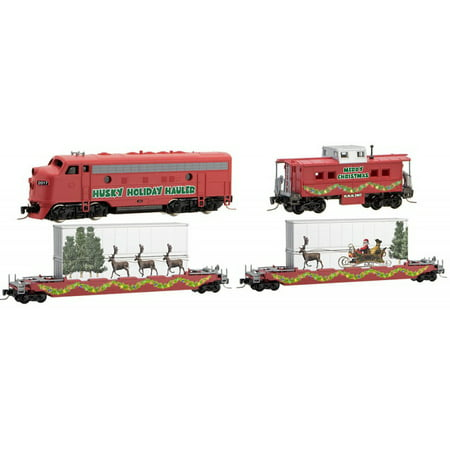 Micro-Trains MTL Z-Scale Husky Hauler Christmas Train Set Diesel Loco/2 Cars