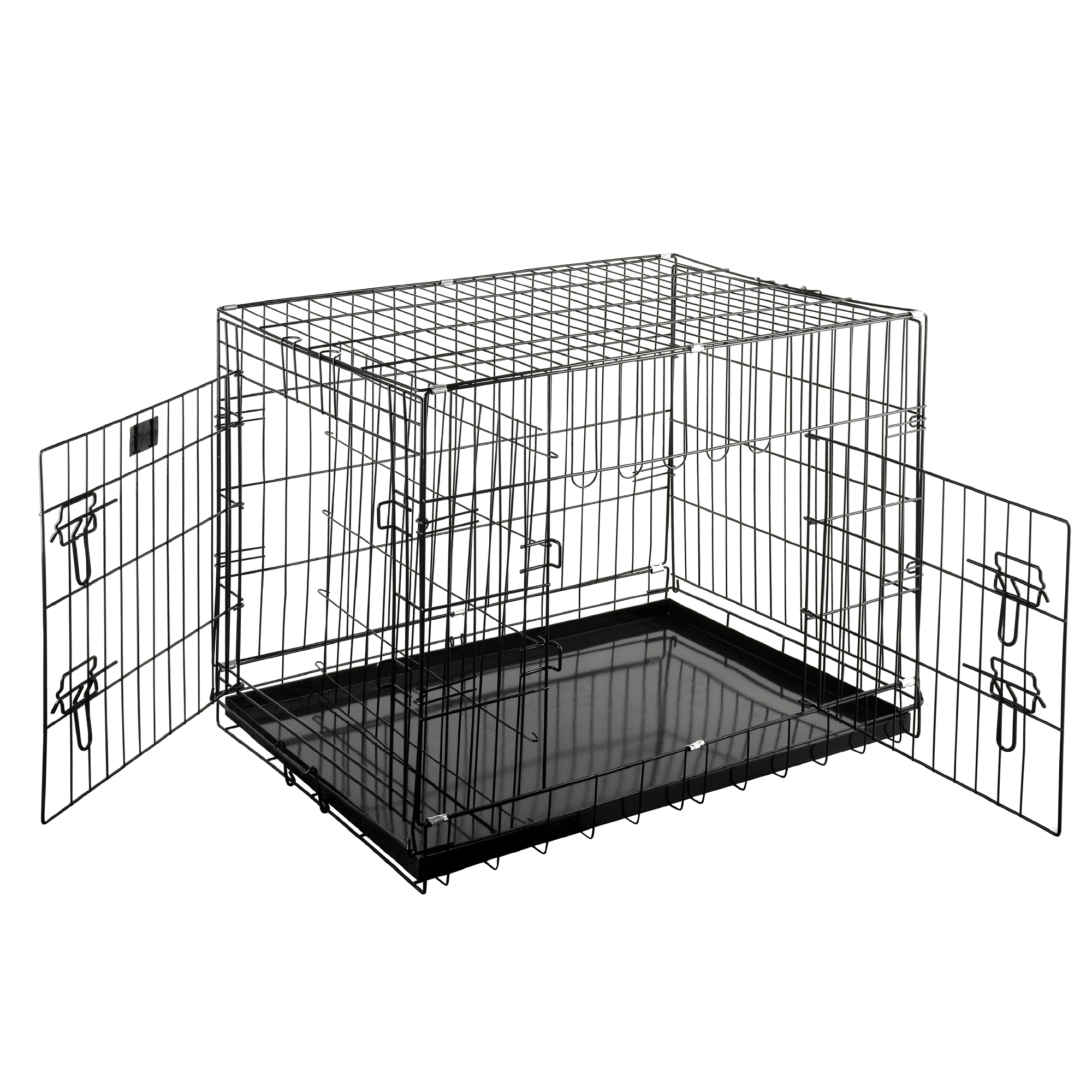 "Pet Trex Premium Quality 30"" Folding Pet Crate Kennel Wire Cage for Dogs Cats or Rabbits"