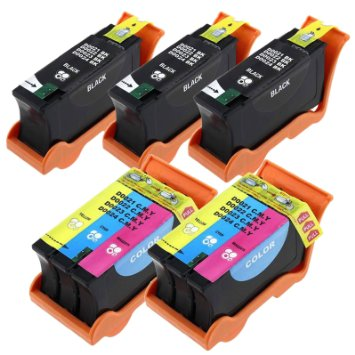 Compatible Multipack for Dell Series 21, 22, 23, 24 - high capacity - 5 pack