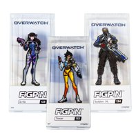 Overwatch Official Hero Pin Set | D. Va, Tracer, & Soldier 76 Pins | Set of 3