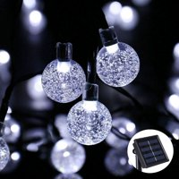 product image qedertek christmas lights led string lights holiday lighting solar string lights led bubble ball holiday decorations