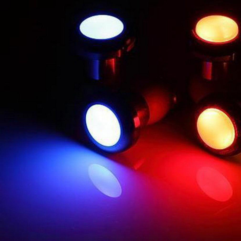 1pair Cycling Bicycle Bike Handlebar End Red LED Plug Light Safety Warning Lamp