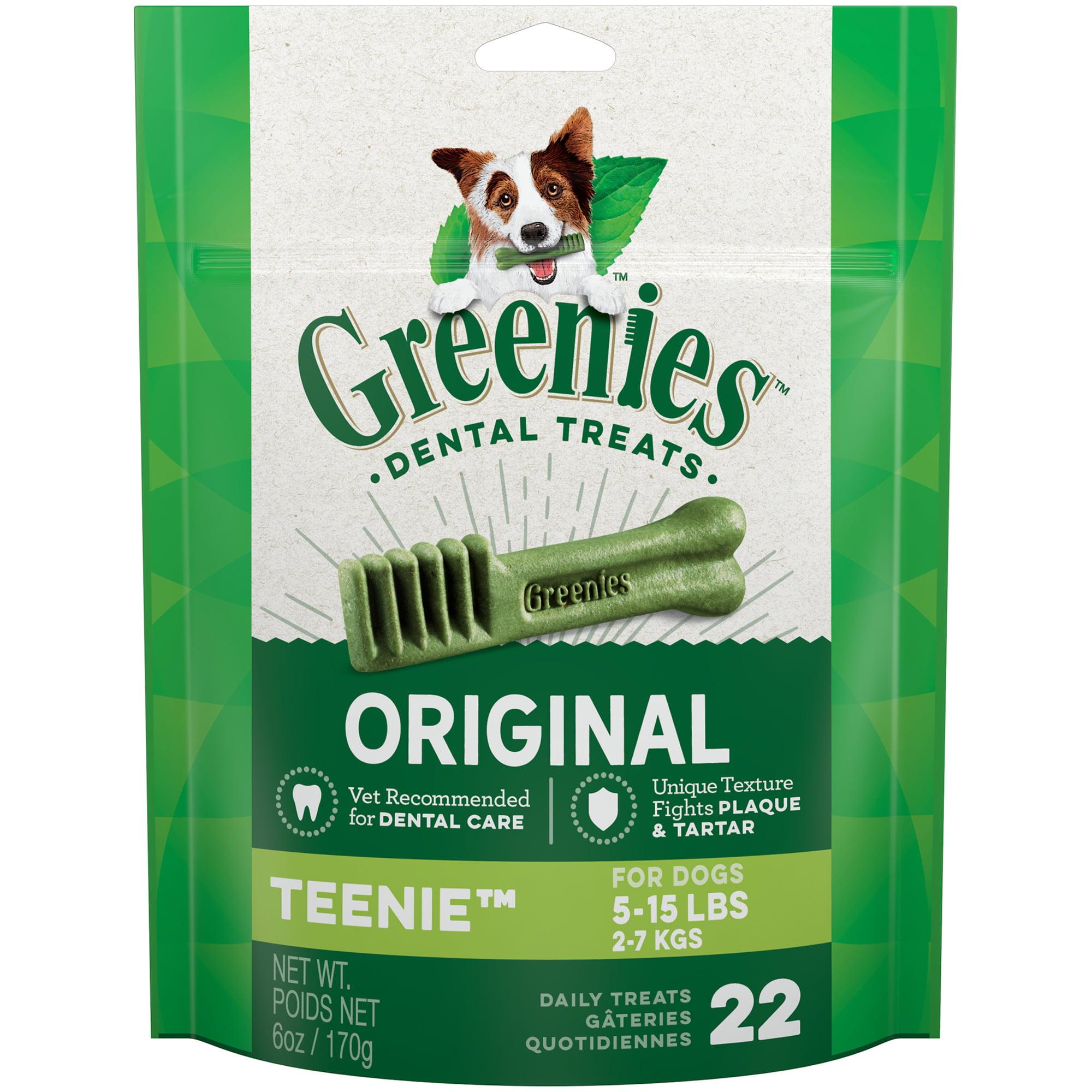 GREENIES Original TEENIE Dental Dog Treats, 6 oz. Pack (22 Treats) by Mars Petcare
