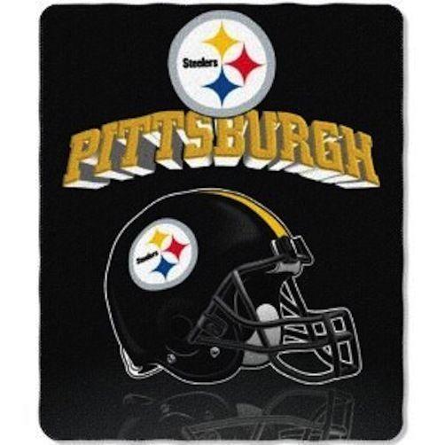 "Pittsburg Steelers ""Reflecting Helmet"" Fleece Blanket / Throw (Approx. 50"" x ..."
