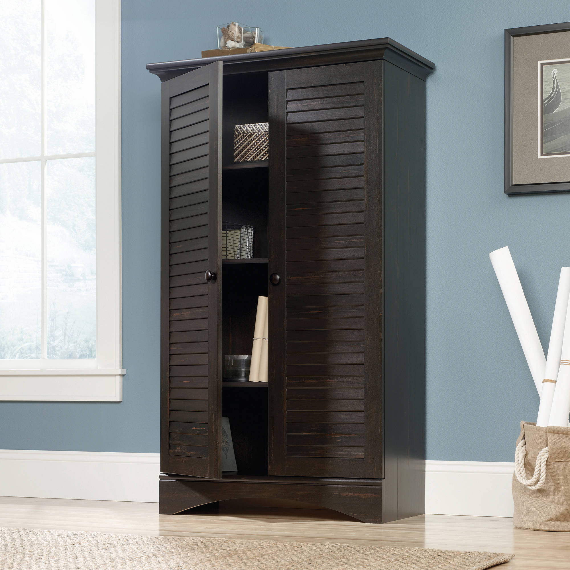 Sauder Harbor View Storage Cabinet Multiple Colors