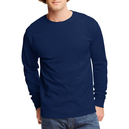 Hanes Big Mens Tagless Long Sleeve T Shirt