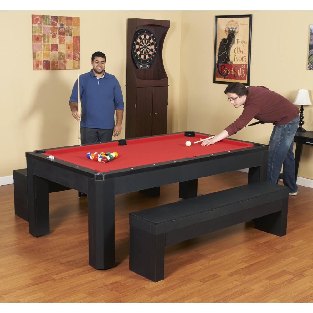 BlueWave POOL TABLES NG2530PR Park Avenue 7' Pool Table Set With Benches & Top by