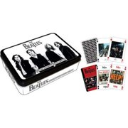 Aquarius The Beatles-Black Cards Playing Card Tin Collectible Game