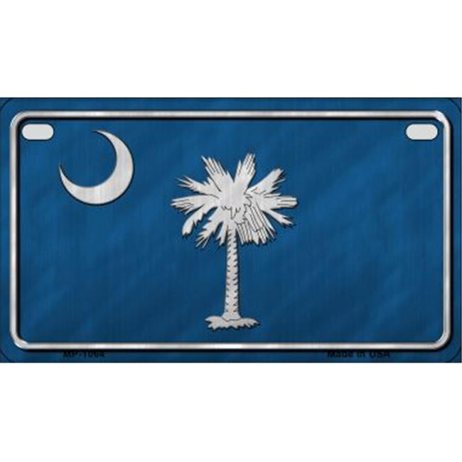Smart Blonde MP-1064 South Carolina State Flag Metal Novelty Motorcycle License Plate