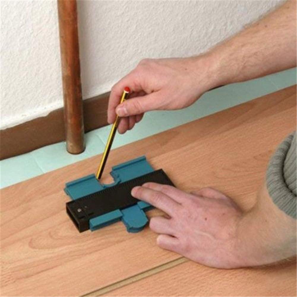 5 Inch Contour Gauge Duplicator Profile Gauge Shape Irregular Outline Measure Precisely Copy Tool for Home Courtyard Tile Corner Door Frame Wood Project Marking Cutting-Red