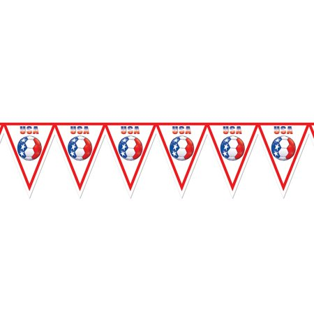 Pack of 6 Red, White and Blue