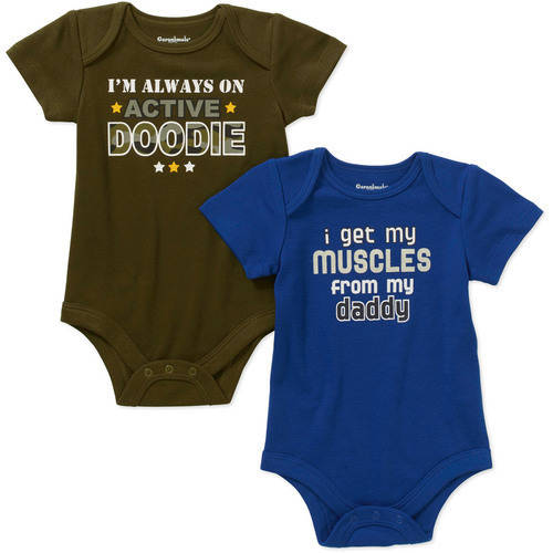 Garanimals Newborn Baby Boy Attitude Bodysuits, 2-Pack