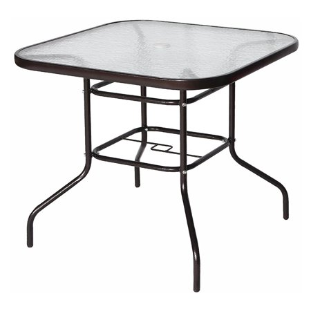 Cloud Mountain Square Wrought Iron 32 in. Patio Dining (Patio Bistro Dining Table)