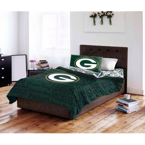 NFL Green Bay Packers Bed in a Bag Complete Bedding Set