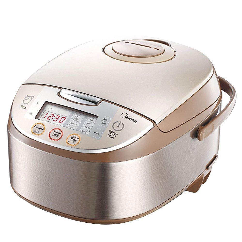 midea mb-fs5017 10 cup smart multi-cooker/rice cooker/maker ; steamer ; slow cooker, brushed