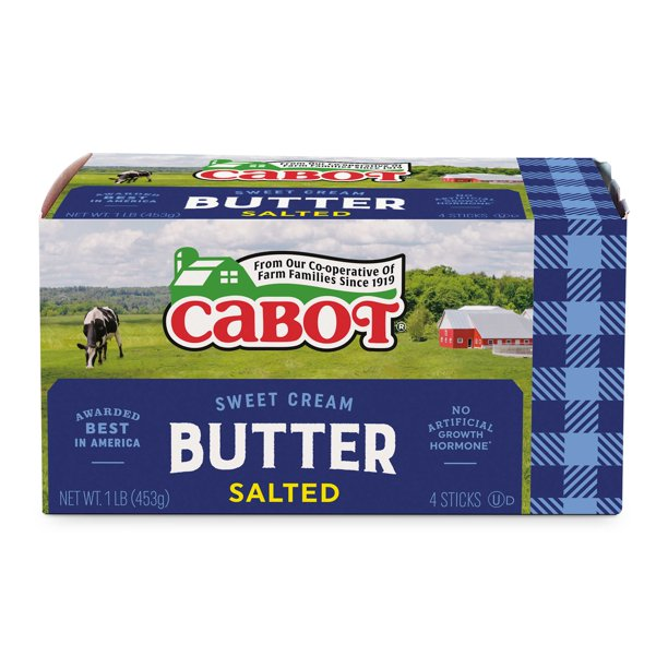 Cabot Salted Butter Quarters, 1 lb