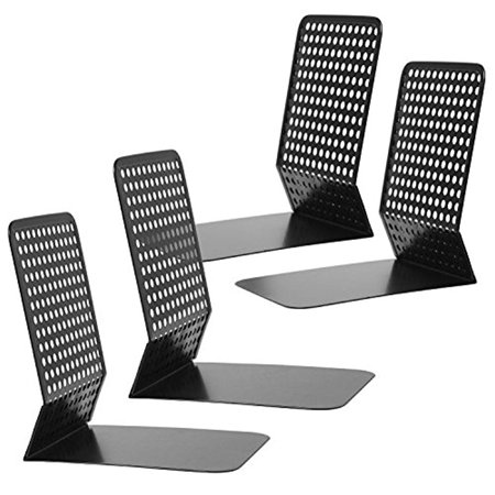 Modern Perforated Style Metal Office FC ENERGY 4 Bookends Bookshelf Racks Set Of 2
