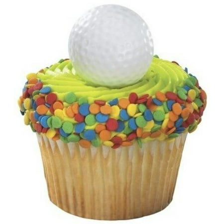 Golf Parties (Golf Ball Cupcake Rings Party Favors - 24)