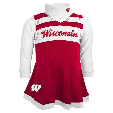 Wisconsin Badgers Girls Turtleneck Cheer Jumper Dress for $<!---->