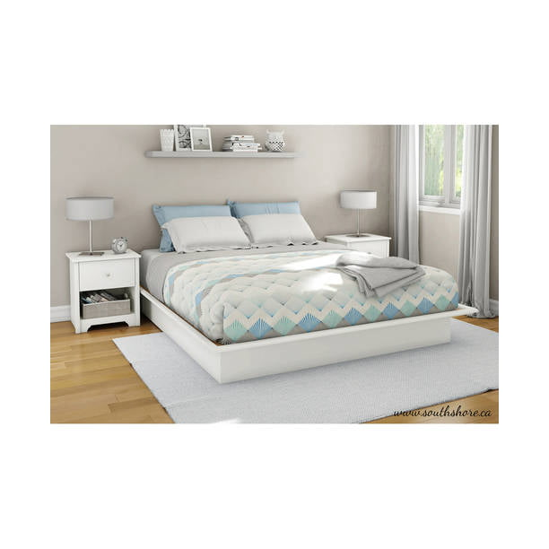 South Shore Basics Platform Bed With Molding Multiple Sizes And Finishes Walmart Com Walmart Com