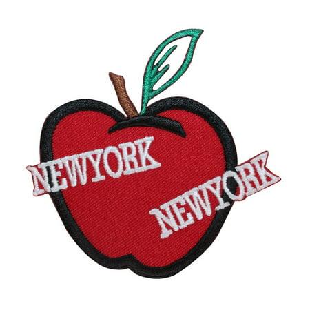 Big Applique - ID 1899 New York Big Apple Patch Travel Souvenir Embroidered Iron On Applique