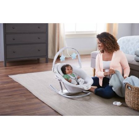 Graco Duet Sway Baby Swing with Portable Rocker, Nepal/Gray with Blue
