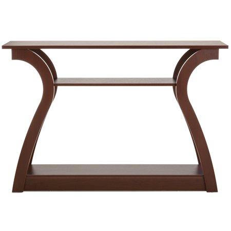 - Best Choice Products 47in 3-Shelf Modern Decorative Console Accent Table Furniture for Entryway, Living Room - Brown