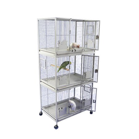 A and E Cage Co. Sanibel Triple Stack Cage-Black