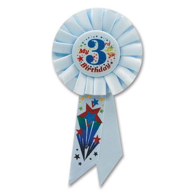 Beistle RS053B My 3rd Birthday Rosette - Pack of 6