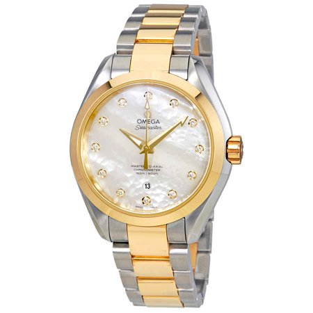 Omega Seamaster Aqua Terra Automatic Movement Mother Of Pearl Dial Ladies Watch 231.20.34.20.55.002