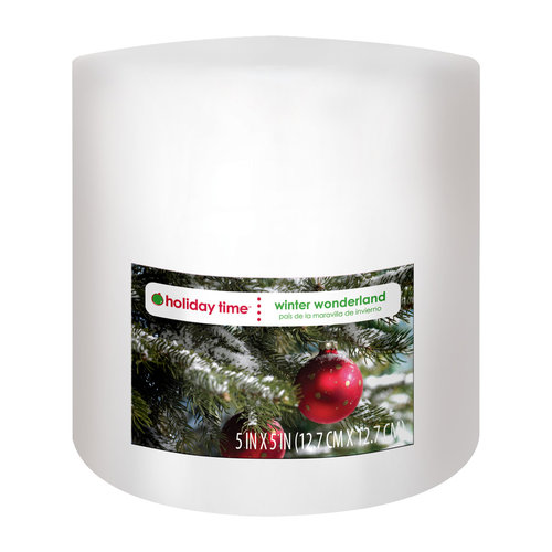 Holiday Time Pillar Candle, Winter Wonderland