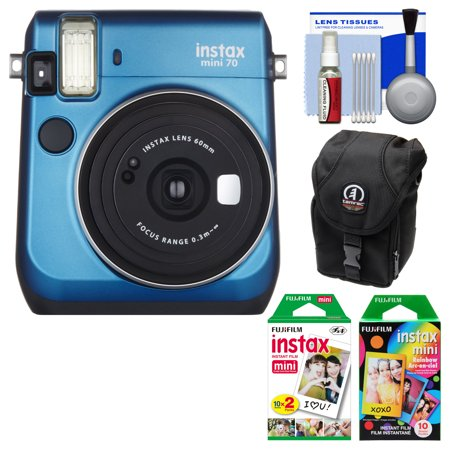 fujifilm instax mini 70 instant film camera blue with 20. Black Bedroom Furniture Sets. Home Design Ideas
