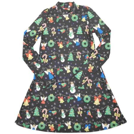 Womens Long Sleeve Holiday Sleep Shirt Christmas Decoration Themed - Holiday Nightgown
