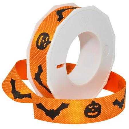 Morex Ribbon, Halloween, 1 in x 27 yd, Orange (Yd Halloween Special)