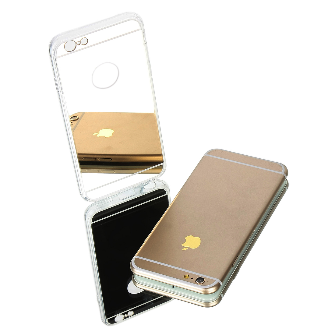 Protective Luxury Ultra-thin Mirror Transparent TPU Case Cover for iPhone 6