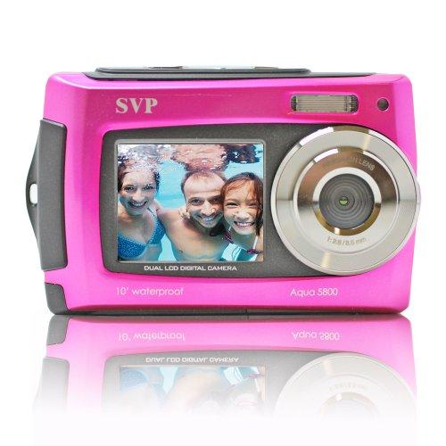 SVP Aqua 5800 Pink 18MP Dual Screen Waterproof Digital Ca...