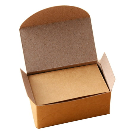 100pcs Double-sided Blank Kraft Paper Business Cards Word Card Message Card DIY Gift Card (Stock Certificate Paper)