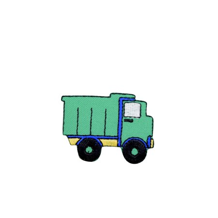 Truck Patch (Green Dump Truck - Construction Vehicle - Iron on Applique/Embroidered Patch )