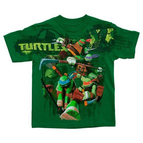 Toddlers Teenage Mutant Ninja Turtles Battle Green T-Shirt