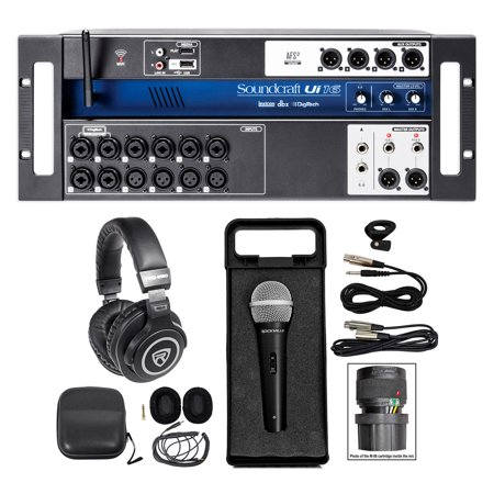 Soundcraft Ui16 16 Input Digital Wifi Mixer+App Control+Recording+Headphones+Mic