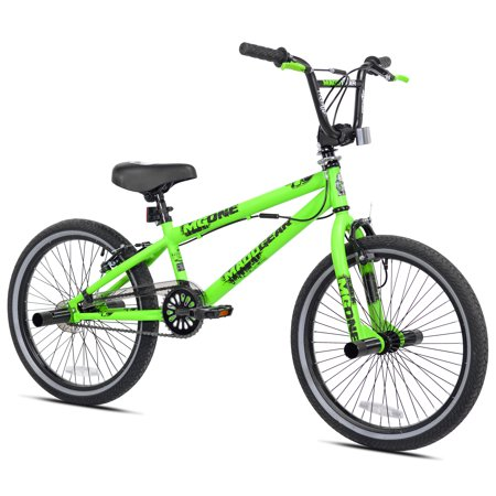 "Madd Gear 20"" Freestyle BMX Boy's Bike, Green, For Height Sizes 4'2"" and Up"