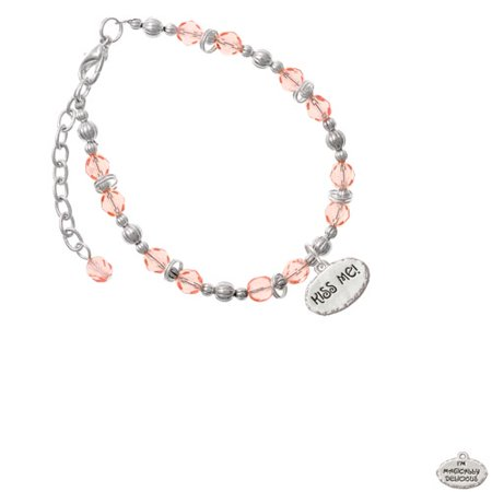Kiss Me ''I'm Magically Delicious'' Pink Beaded Bracelet - Magically Delicious