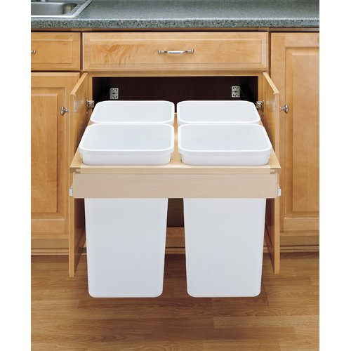 Rev-A-Shelf Top Mount 6.75 Gallon Pull Out/Under Counter Pull Out/Under Counter Trash Can