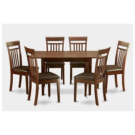 Noca7 mah lc 7 piece small dinette set for small spaces table and 6 dining table chairs - Piece dining set small spaces plan ...